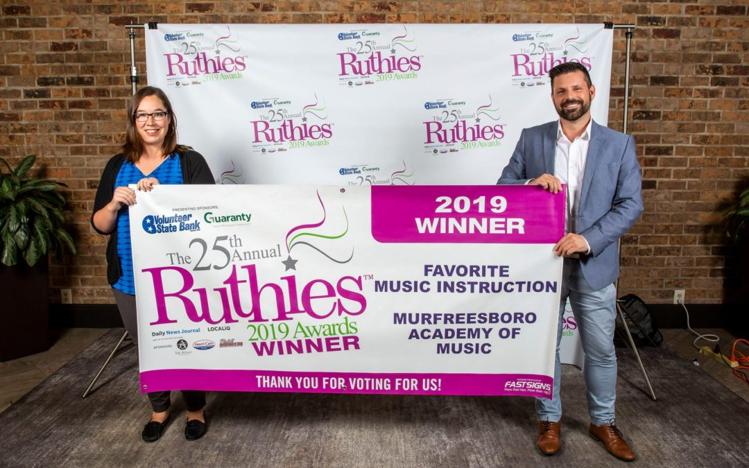 2019 Ruthies Winner!
